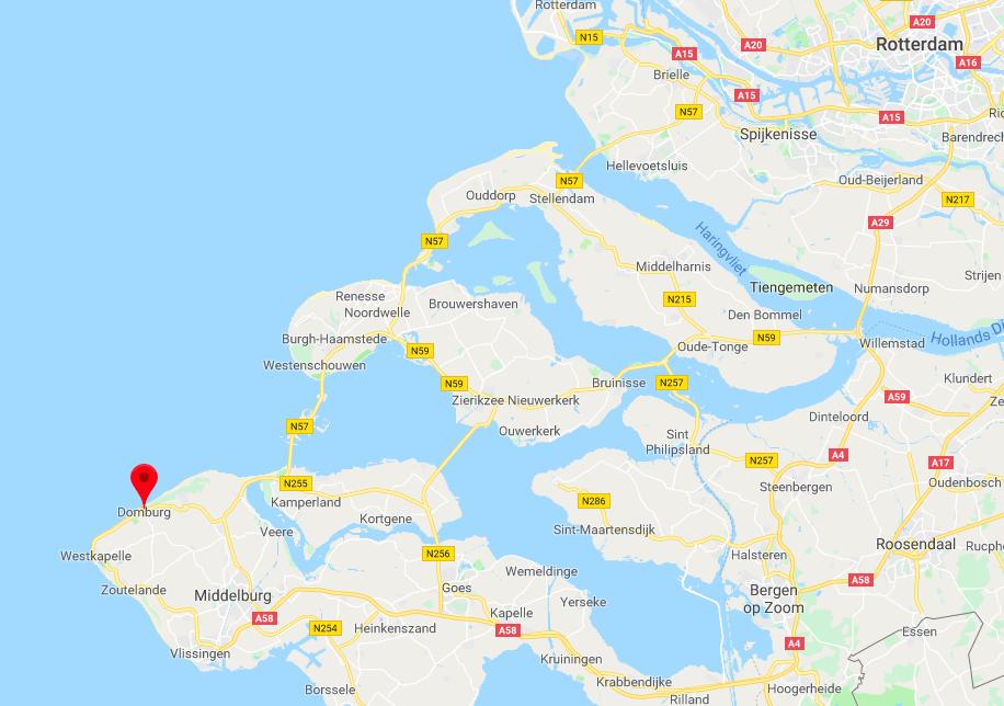 Domburg locatie op kaart